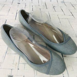 EASY SPIRIT 360 BLUE-GRAY Casual Slip On Flats